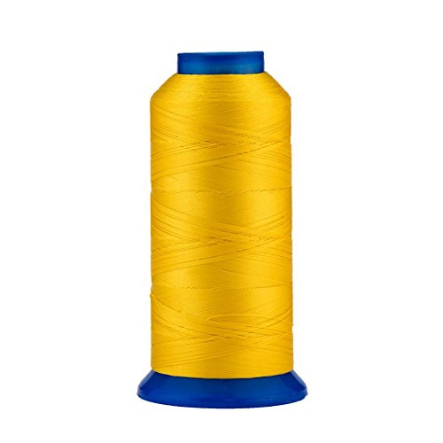 Selric [1500Yards / 130g / 22 Colors Available] UV resistant High Strength Polyester Thread #69 T70 Size 210D/3 for Upholstery, Outdoor Market, Drapery, Beading, Purses, Leather ( Golden Yellow )