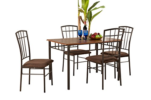 Pilaster Designs - Dining Room Dinette Kitchen Set Rectangular Table and 4 Chairs