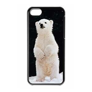 Unique Durable Hard Plastic Case Cover for Iphone 5C - Polar Bear CM08L7568