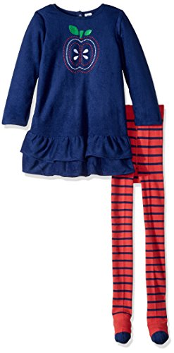 Dresses Tights And (Gerber Baby Fleece Dress with Tights, Apple, 18 Months)