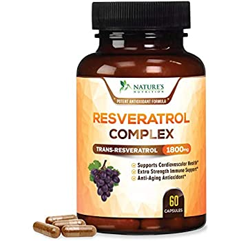 Amazon.com: Vida Enhanced Pro Resveratrol 1150 mg Trans ...