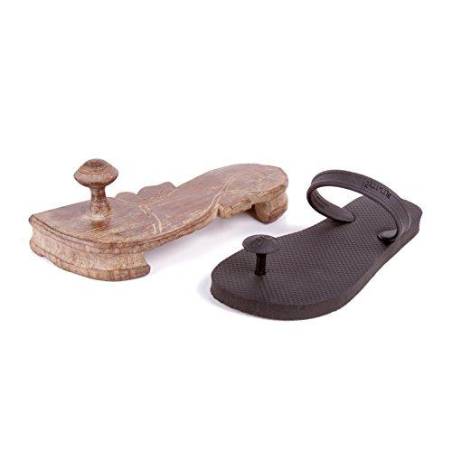 Sandals Flops Gurus Sustainable Natural Flip Tamarind Women's Rubber nwwUx
