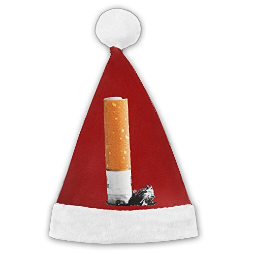 [Chrihapy Asmlie Smoking Cigarette Butt Santa Hat Plush Christmas Hat Decorations For Kids And Adults Unique Gifts] (Funny Triplet Costumes)