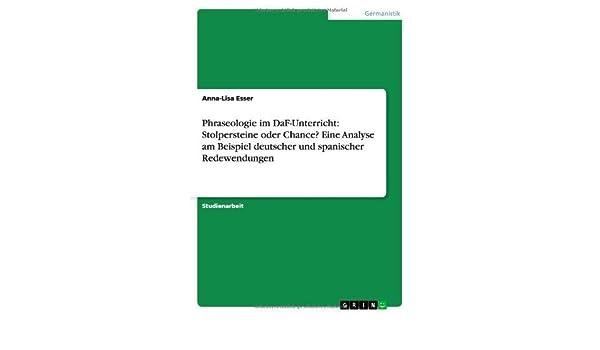 Phraseologie Im Daf-Unterricht: Stolpersteine Oder Chance? Eine ...