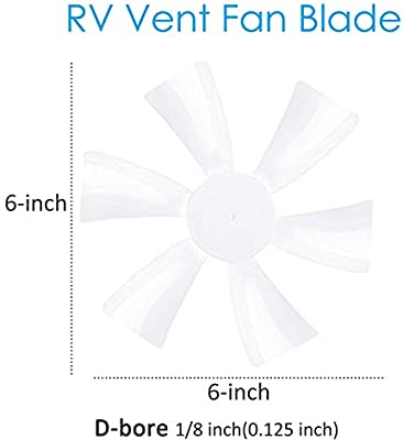 Wadoy RV Vent Cover for 14 x 14 Jensen Metal Roof Vents Camper Vent Lid with 6 RV Vent Fan Blade D-Bore 0.125 Pack of 3