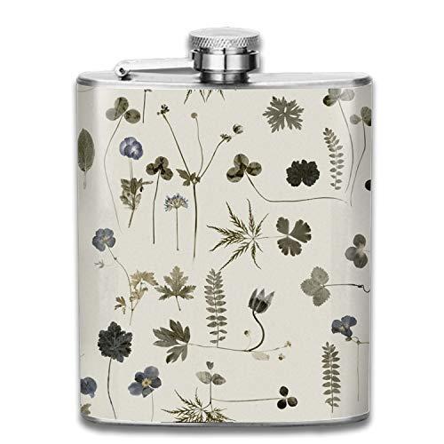 COLG Little Fair Flower Stainless Steel Hip Flask, Pocket Flagon, Camping Wine Pot, Portable Liquor Flagon Retro Pocket Flask for Men and Women Gift (Baseball 6 Ounce Flask)