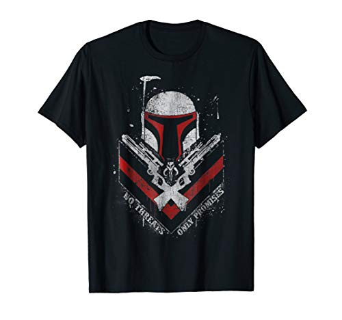 Star Wars Boba Fett No Threats Only Promises Graphic T-Shirt
