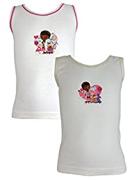 Cartoon Character Products Pack of 2 Disney Doc McStuffin Girls Vests