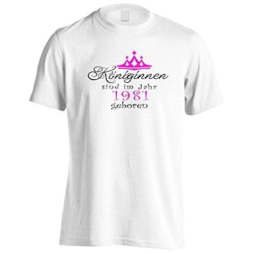 Königinnen sind im Jahr 1981 geboren Herren T-Shirt bb69m