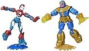Boneco Marvel Vingadores Bend and Flex Pack Duplo - E9197 - Hasbro