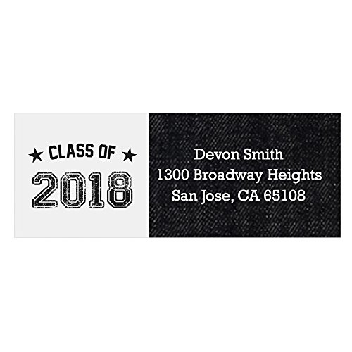 - Personalized 2018 Graduation Party Return Address Labels - Set of 30 (Grad Address Label)
