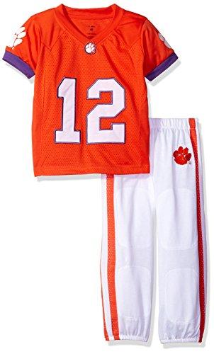 NCAA Clemson Tigers Boys Toddler/Junior Football Uniform Pajamas , Size 6T, Orange/White