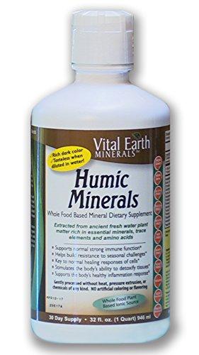 Vital Earth Minerals Humic Minerals – 32 Fl. Oz.- 1 Month Supply – Vegan Liquid Trace Mineral Multimineral Supplement…