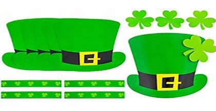 Leprechaun Hat Craft Kit- Makes 10