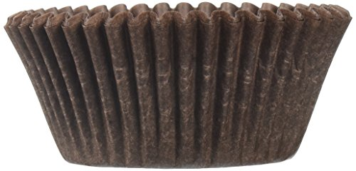 (Oasis Supply Baking Cups, 100-Count, Solid Brown)
