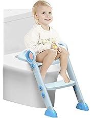 Potty Training Seat pour enfants, Siège de Toilette Réducteur de WC pour Bébé Tout Petit avec Poignée de Coussin et Back Trainer Toilettes pour Toilettes Ronds et Ovales