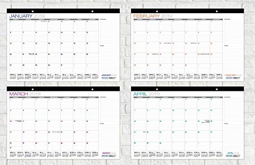 Desk Calendar 2018-2019: 11''x17'' - (Runs from July 2018 Through December 2019) (1 Pack) by Global Printed Products (Image #5)