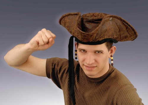 Forum Novelties 61210 Distressed Pirate with Beads Hat