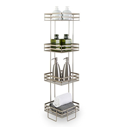 BINO Lafayette' 4-Tier Square Spa Tower, Nickel by BINO