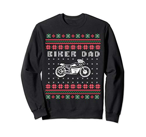 Biker Dad Street Motorcycle Ugly Sweater Sweatshirt