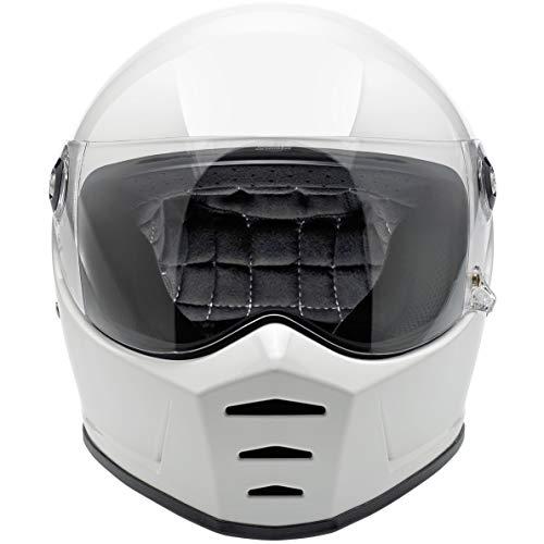 Biltwell Lane Splitter Helmet (LARGE) (GLOSS WHITE) - Replacement Parts Pads Cheek
