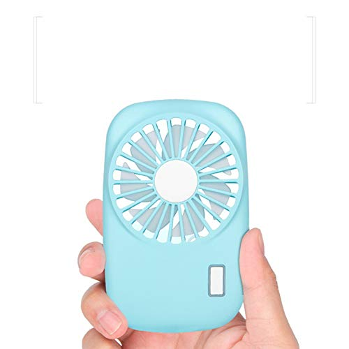 YXTHON Small Portable Fan, Speed Adjustable, Battery Operated Rechargeable, Mini Personal Handheld USB Fan for Travel Outdoor Camping Hiking (Blue)
