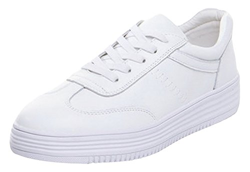Deportivo EOZY Zapatos Talla Casual Plataforma Mujer Para Blanco 35 r7Eq7wR