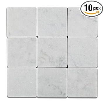 tumbled marble tile. White Tumbled Marble Tile 4X4 L