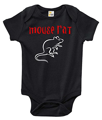 Mouse Rat Baby Bodysuit Cute Baby Clothes for Infant Boys and Girls (3-6 Months) Black ()