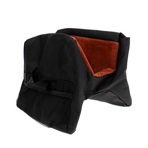 Fenteer Unfilled Front and Rear Targets Shooting Hunting Rest Sand Bag Bench Support (Target Shooting Bench)