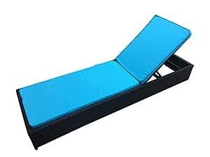Moderno ratán para exteriores Lounge Chaise todo tipo de clima–Silla de jardín