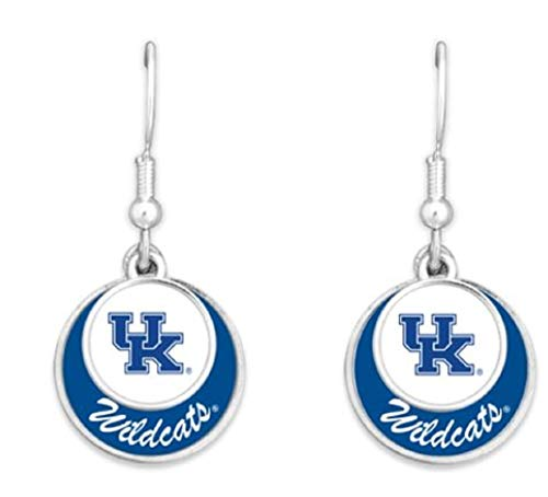 FTH 55427 University of Kentucky Wildcats Double Disk Earrings