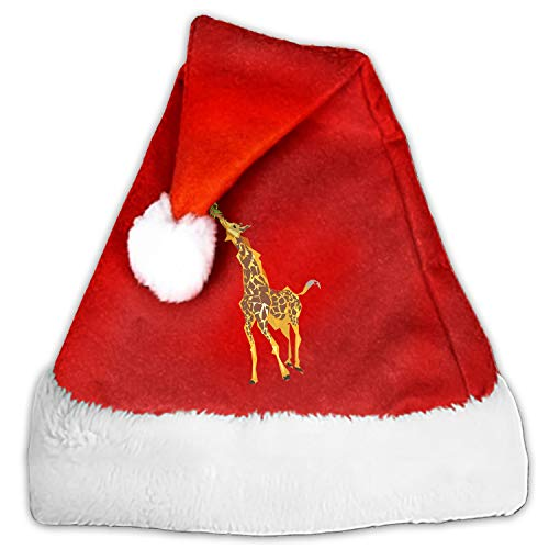 Dinning Giraffe Santa Hat-Christmas Costume Classic Hat for Adult ()