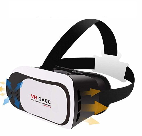 "Eastchina VR BOX 3D Glasses, 3D Virtual Reality Glasses, 3D Video Glasses Helmet Headset, Suitable For 3.5''-6.0"" iPhone / Samsung Note / LG / HTC Moto Etc. iOS, Android & PC phones ( Park-3)"