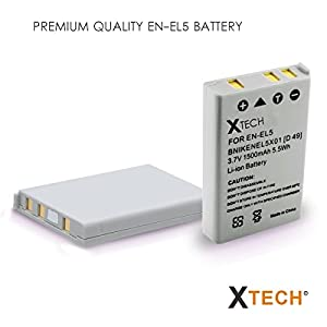 High EN-EL5/ENEL5 Battery for Nikon CoolPix 3700 4200 5200 5900 7900 P35 P45 P80 P90 P100 P500 P510 P520 P530 P5000 P5100 P6000 S10 Cameras … from HeroFiber