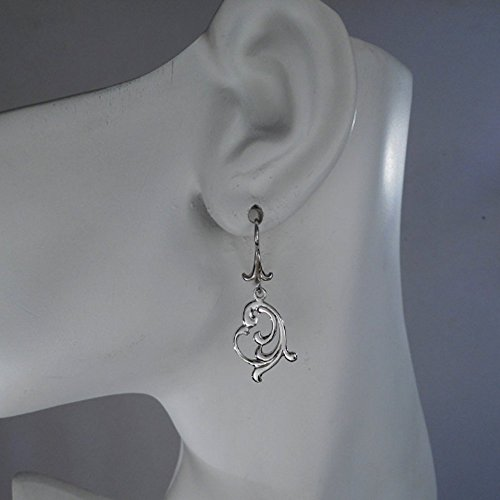 - Sterling Silver Scandinavian Filigree Earrings