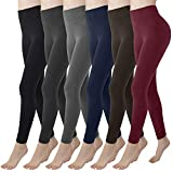 Double Couple Womens Fleece Lined Leggings High Waisted Soft Slimming Winter Warm Leggings