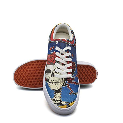 - Migny Hills Women's Low Top Shoes The Famous Grateful Dead Skull and Roses Logo Fashion Sneakers