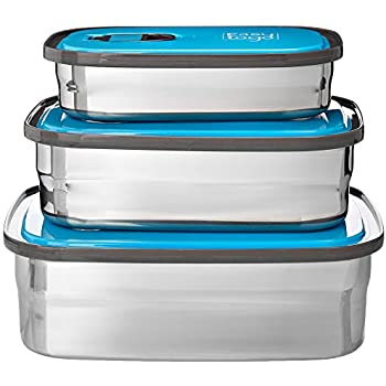 09d419e9bae7 Amazon.com: JaceBox Food Storage Containers - Stainless Steel 304 ...
