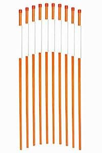 fibermarker–Fibra de vidrio marcadores de entrada unidades naranja 5/16-inch Dia de entrada bastones para fácil de visibilidad de noche