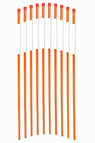 FiberMarker Solid Reflective Driveway Markers 48-Inch Orange 100-Pack 5/16-Inch Dia Driveway Poles for Easy Visibility at Night by FiberMarker