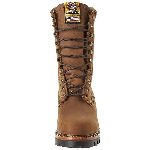 1739fe4475a Justin Original Work Boots Men's Jmax Logger Steel TE Steel Toed ...