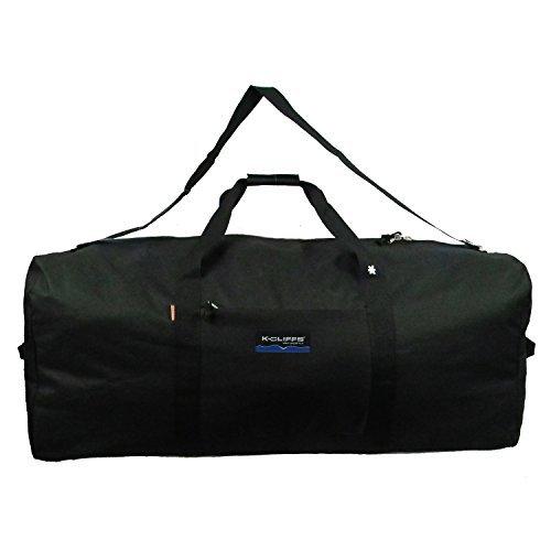 (Heavy Duty Cargo Duffel Jumbo Gear Bag Big Drum Set Equipment Hardware Bags Large Square Sport Duffel Oversized Travel Bag Huge Rack Bag (24(L)x12(H)x12(W) inch, Black))
