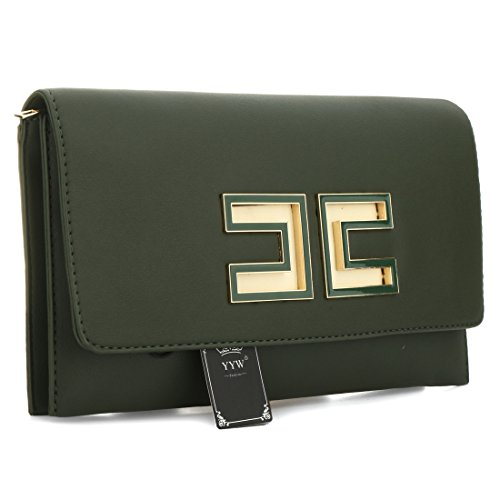 UNYU Bag Handbag Shoulder Prom Green Wedding Women Purse Bag Fashion Wallets Clutch Party Leather Evening rwrxCztqO