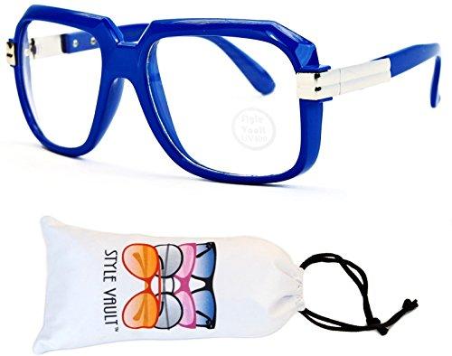 A172-vp Style Vault Flat Top Square Eyeglasses (S2619V Blue-Clear, - For Eyeglasses Blue Women