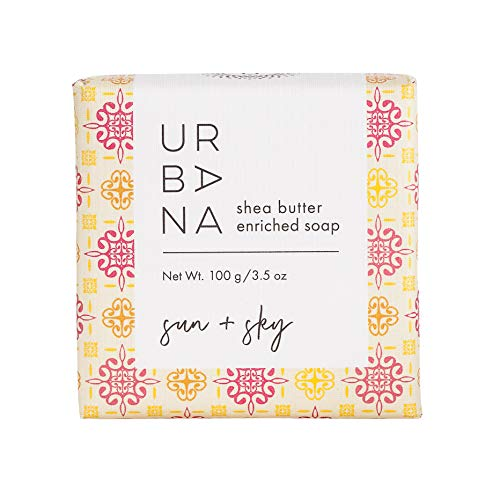 Urbana 75159SY Moisturizing Shea Butter Enriched Bar Soap (3.5oz), Sun + Sky