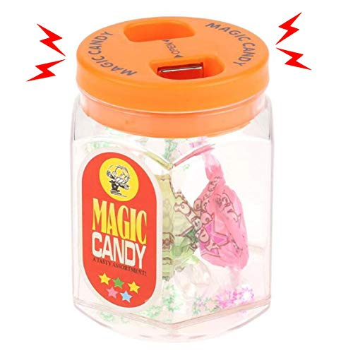 (Cooplay Electric Shock Candy Jar Sweets Box Prank Toy Fake Joke Funny Gadget Shocking Tricky Gag Veigar April Fool Party for)