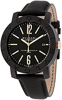 Bvlgari Automatic Leather Analog Display Men's Watch