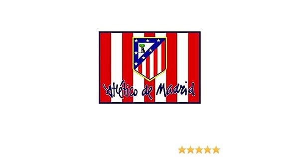 BANDERA ATLETICO DE MADRID COLCHONERO 0,50 X 0,68 CM: Amazon.es ...