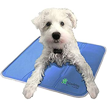 The Green Pet Shop Dog Cooling Mat - Pressure-Activated Gel Cooling Mat For Dogs, Medium Size - This Pet Cooling Mat Keeps Dogs and Cats Comfortable All Summer - Ideal for Home and Travel